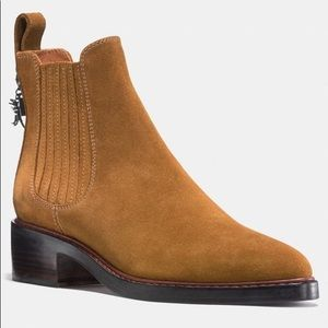 Coach Tan Suede Bowery Chelsea Booties